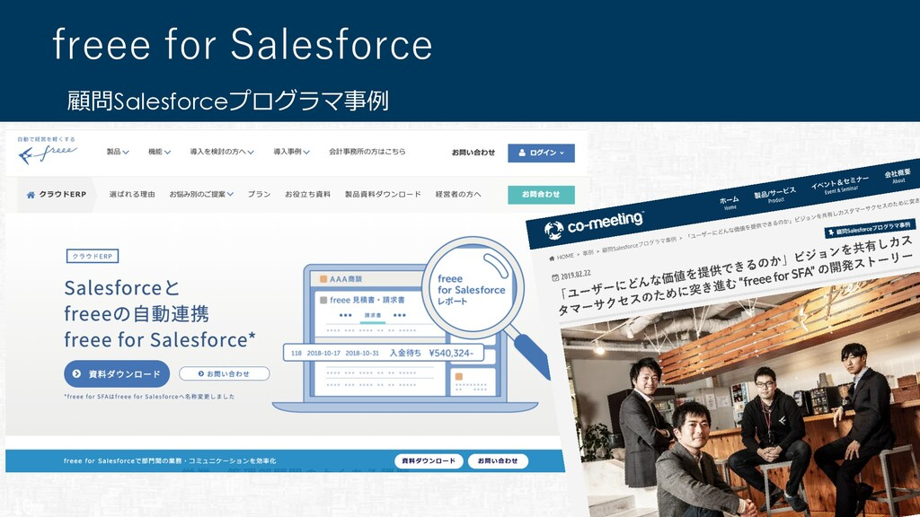 顧問Salesforceプログラマ事例 freee for Salesforce 10