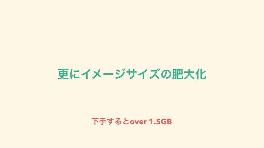 ߋʹΠϝʔδαΠζͷංେԽ Լख͢Δͱover 1.5GB