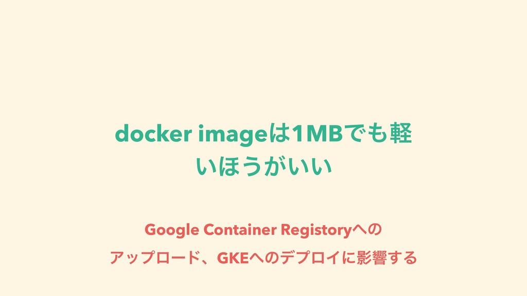 docker image1MBͰܰ ͍΄͏͕͍͍ Google Container Reg...