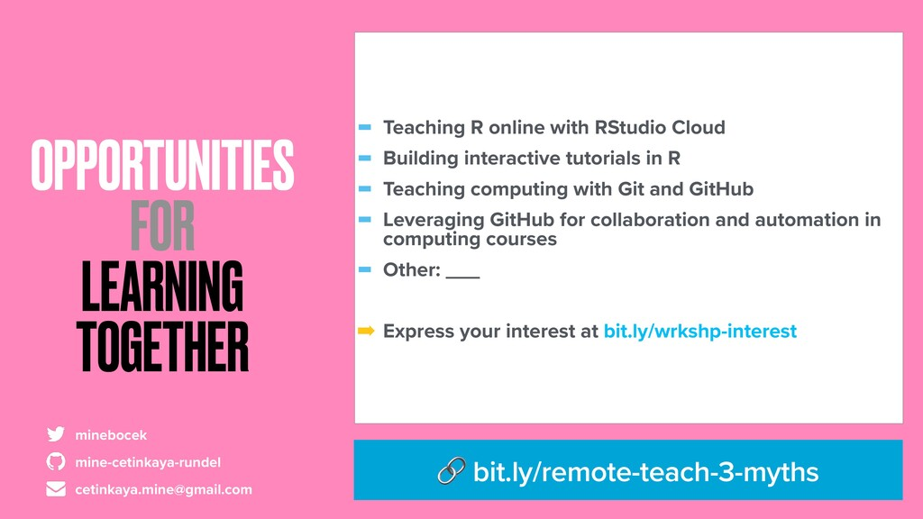OPPORTUNITIES FOR LEARNING TOGETHER - Teaching ...