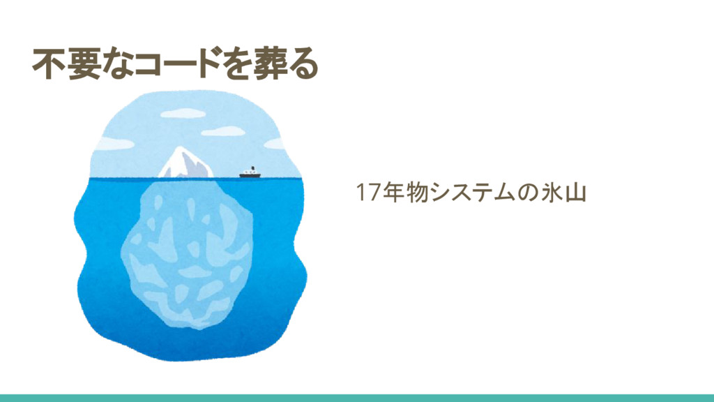 不要なコードを葬る 17年物システムの氷山