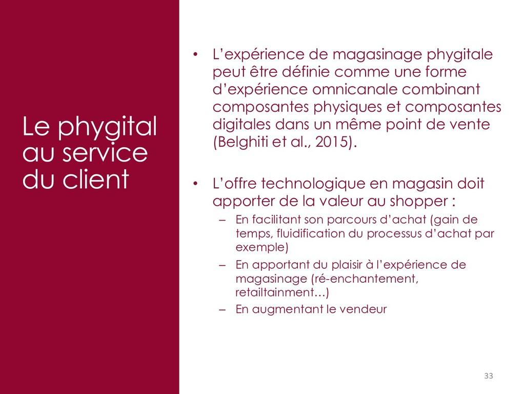 33 Le phygital au service du client • L'expérie...