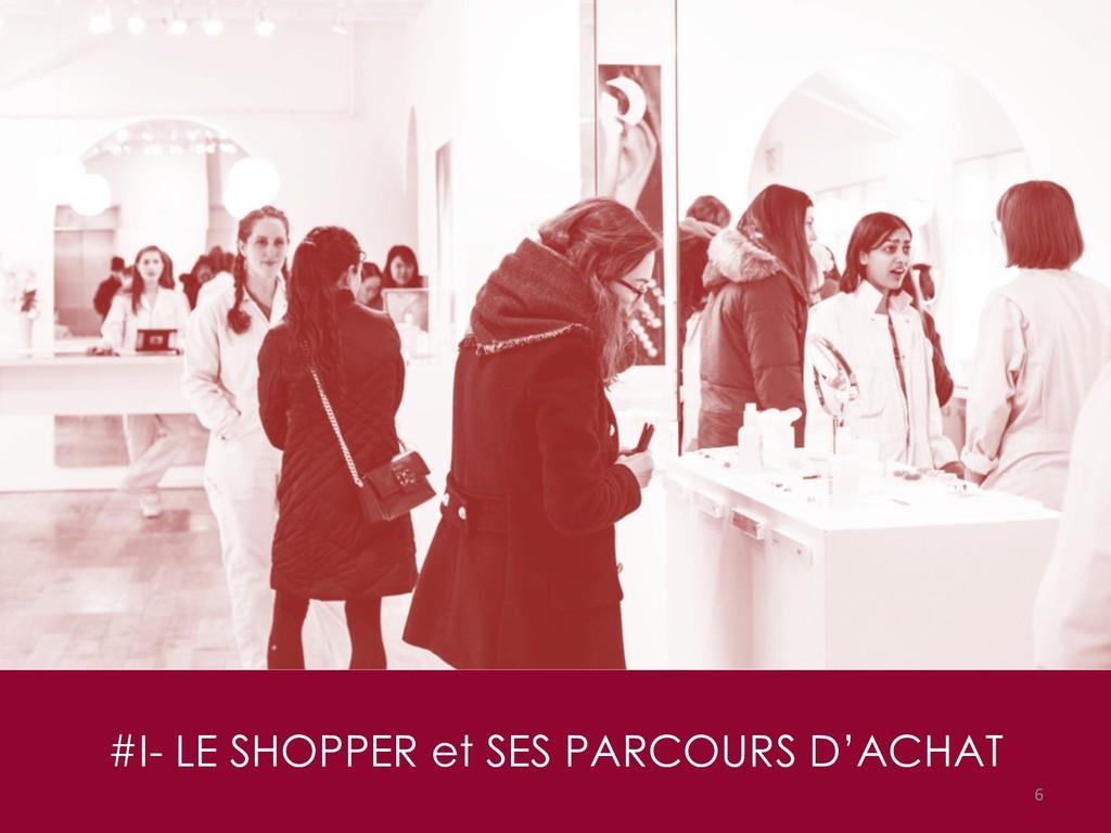 #I- LE SHOPPER et SES PARCOURS D'ACHAT 6