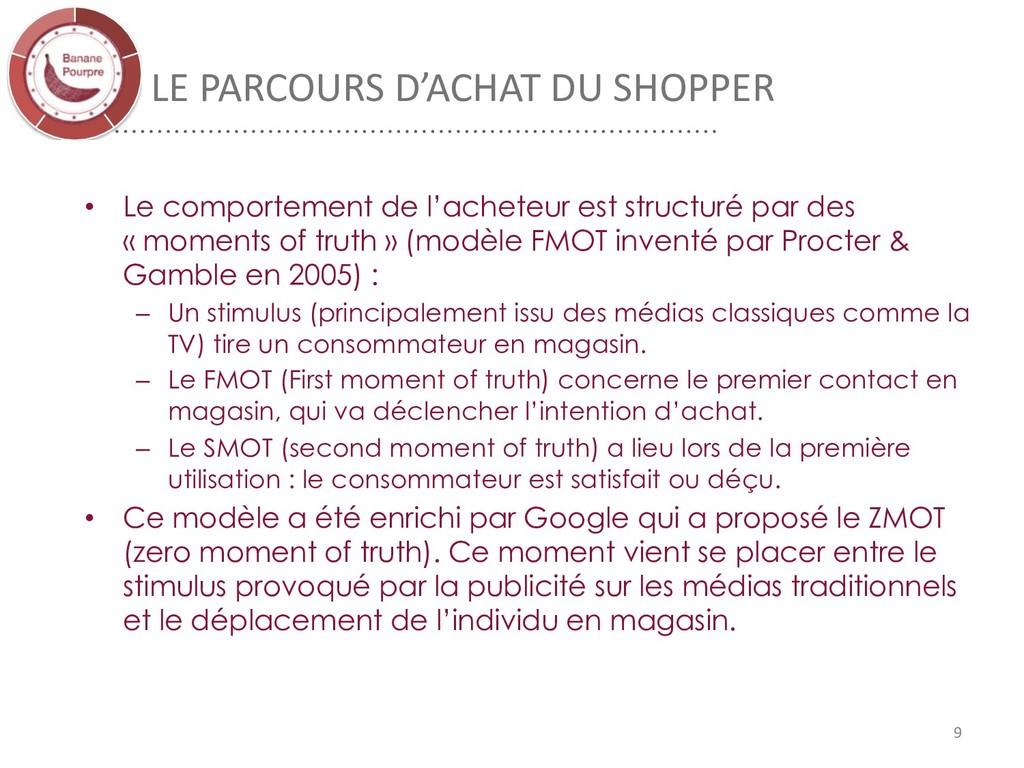 LE PARCOURS D'ACHAT DU SHOPPER • Le comportemen...