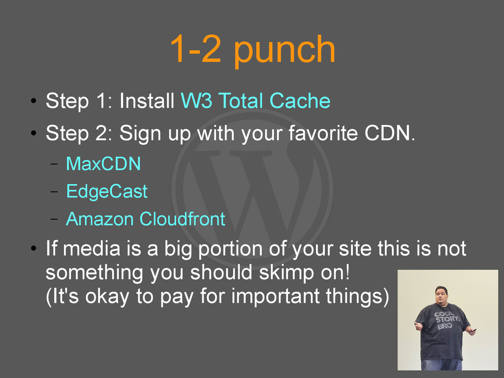1-2 punch ● Step 1: Install W3 Total Cache ● St...