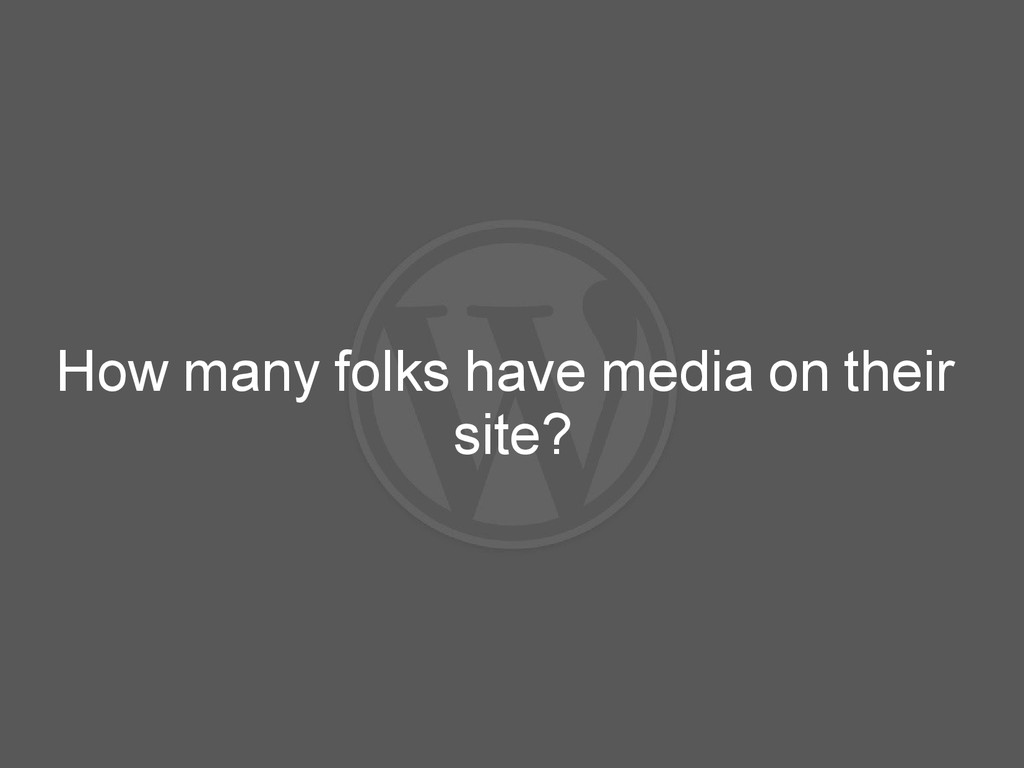 How many folks have media on their site?