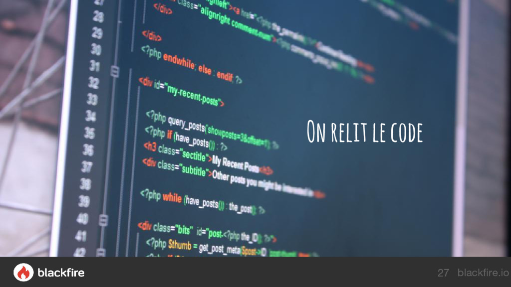 blackfire.io On relit le code 27