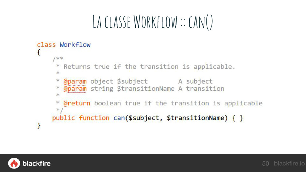 blackfire.io La classe Workflow :: can() 50