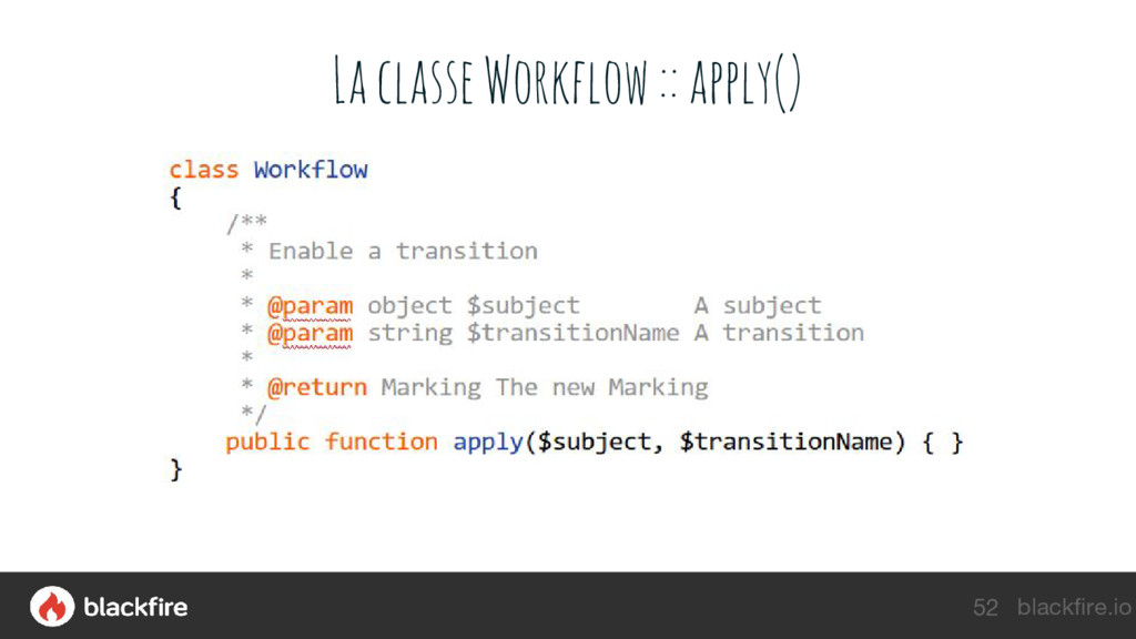 blackfire.io La classe Workflow :: apply() 52