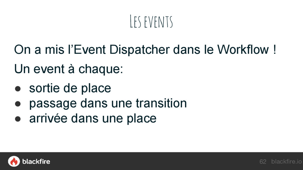 blackfire.io Les events On a mis l'Event Dispat...