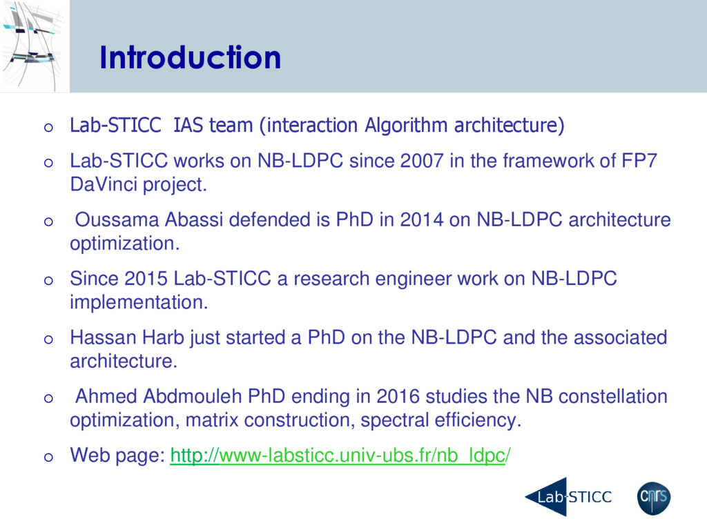 Introduction  Lab-STICC IAS team (interaction ...