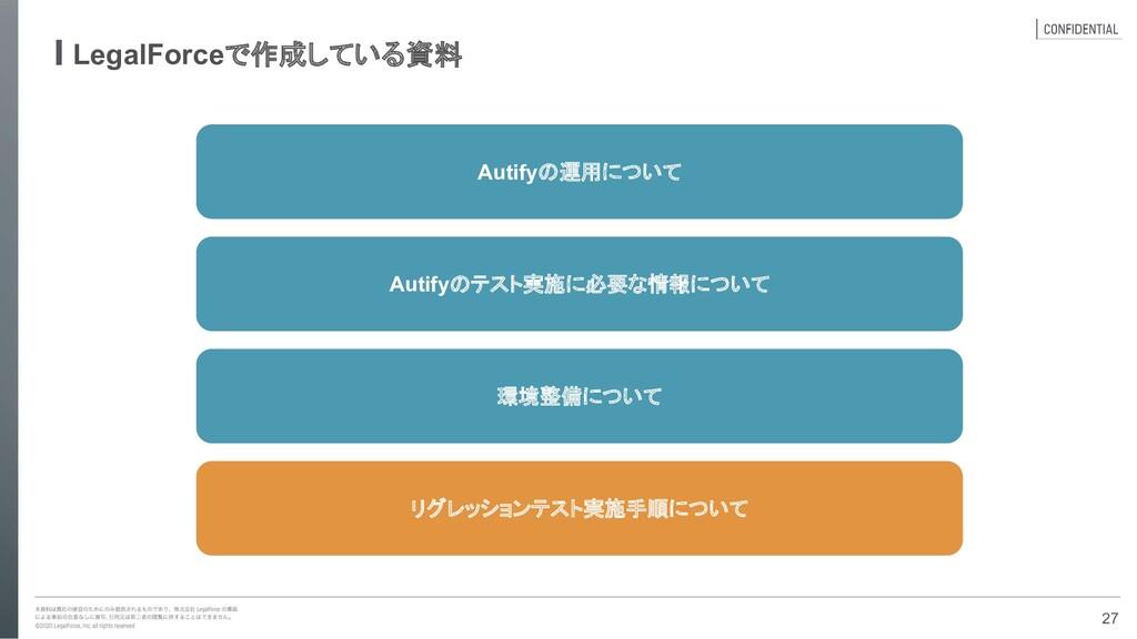 LegalForceで作成している資料 Autifyのテスト実施に必要な情報について Auti...
