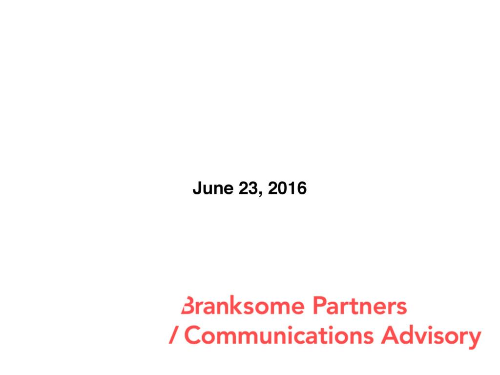 June 23, 2016