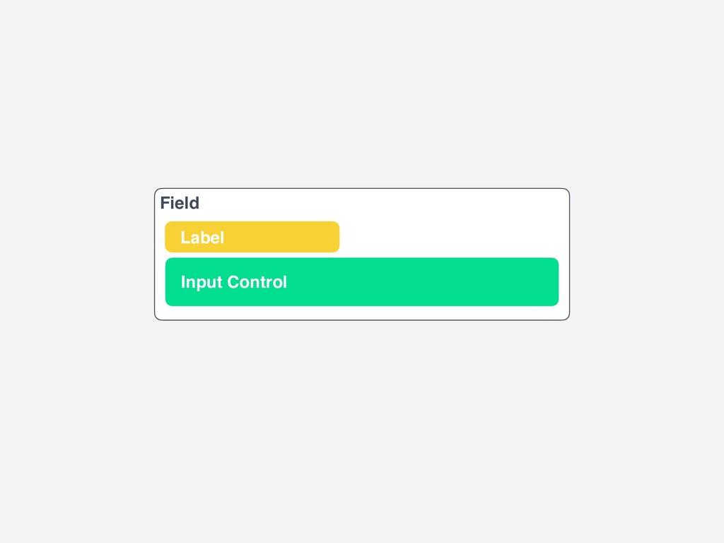 Field Input Control Label