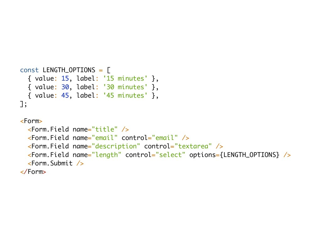 const LENGTH_OPTIONS = [ { value: 15, label: '1...