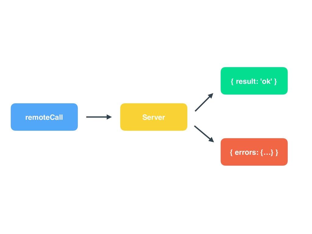 remoteCall Server { result: 'ok' } { errors: {…...