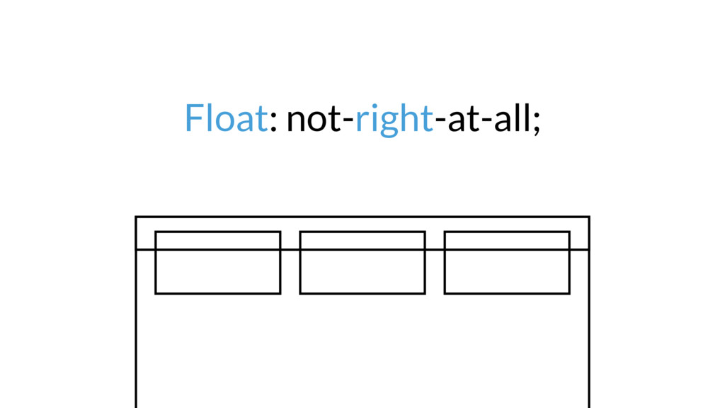 Float: not-right-at-all;