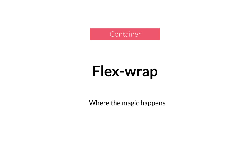 Flex-wrap Where the magic happens Container