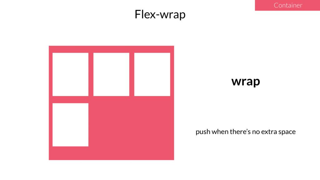 Container Flex-wrap wrap push when there's no e...