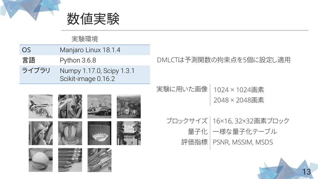 数値実験 13 OS Manjaro Linux 18.1.4 言語 Python 3.6.8...