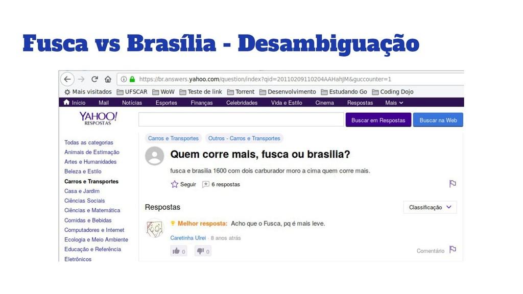 Fusca vs Brasília - Desambiguação