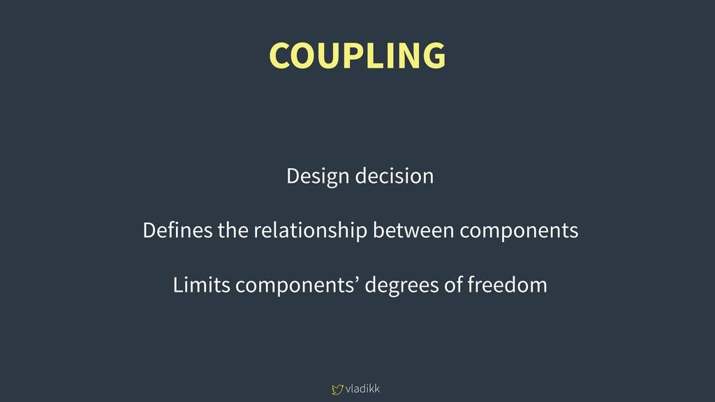 vladikk COUPLING Design decision Defines the re...