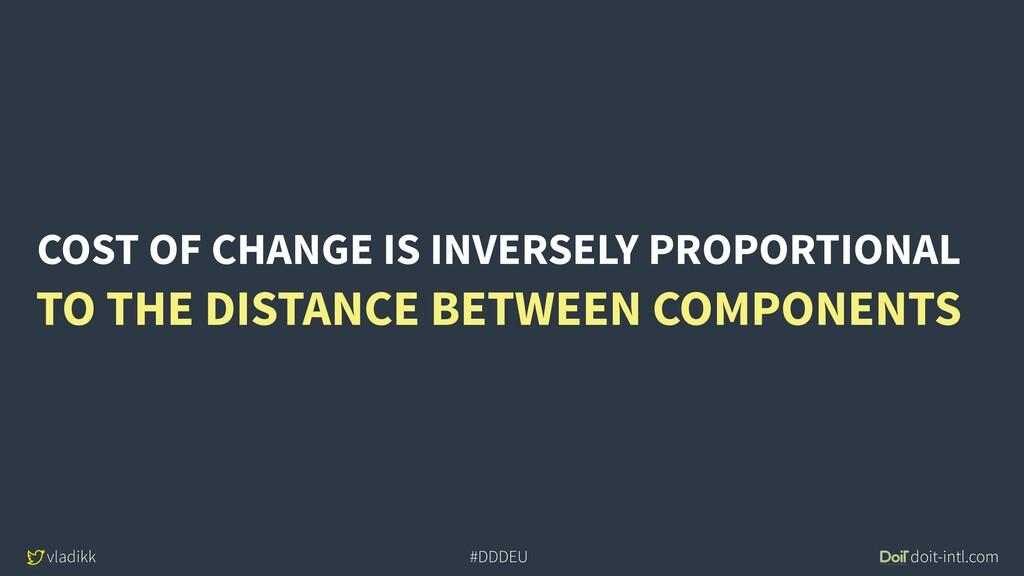 vladikk doit-intl.com #DDDEU COST OF CHANGE IS ...