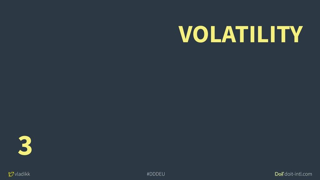 vladikk doit-intl.com #DDDEU VOLATILITY 3
