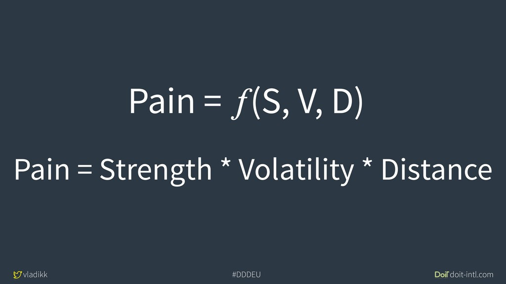 vladikk doit-intl.com #DDDEU Pain = Strength * ...