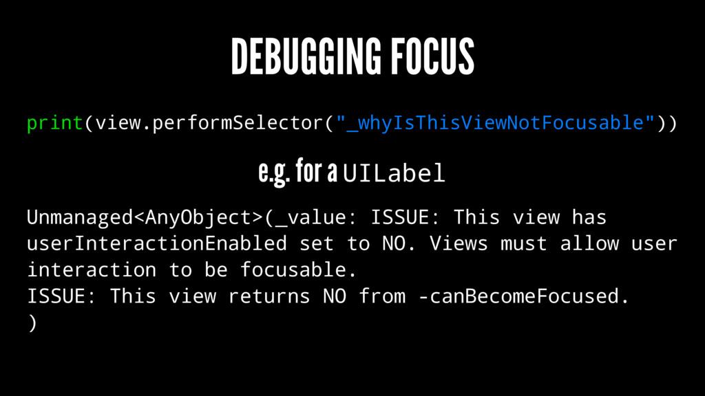 """DEBUGGING FOCUS print(view.performSelector(""""_wh..."""