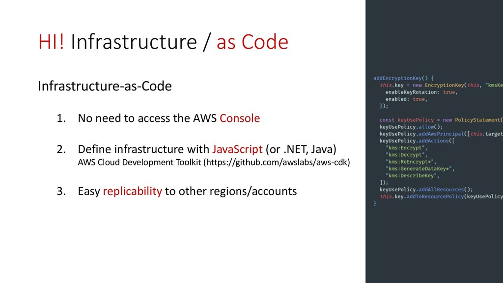 HI! Infrastructure / as Code Infrastructure-as-...