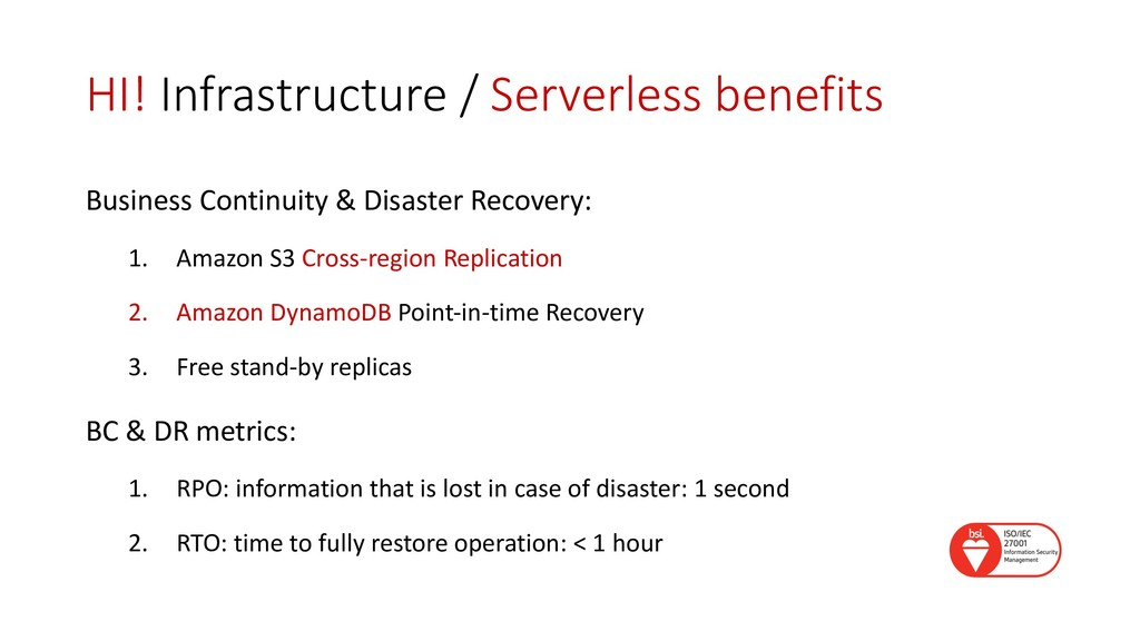 HI! Infrastructure / Serverless benefits Busine...