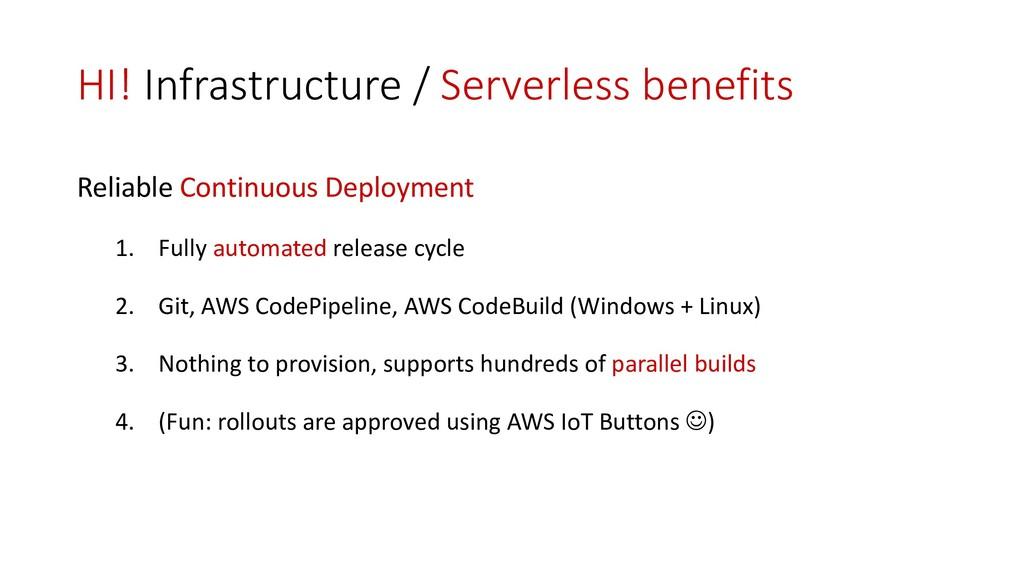 HI! Infrastructure / Serverless benefits Reliab...