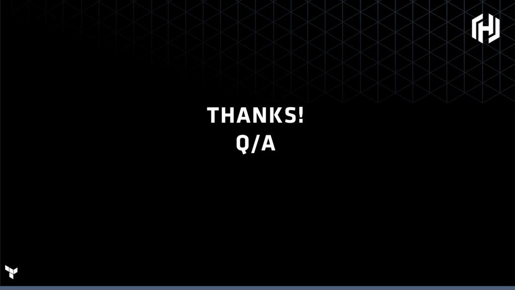 THANKS! Q/A