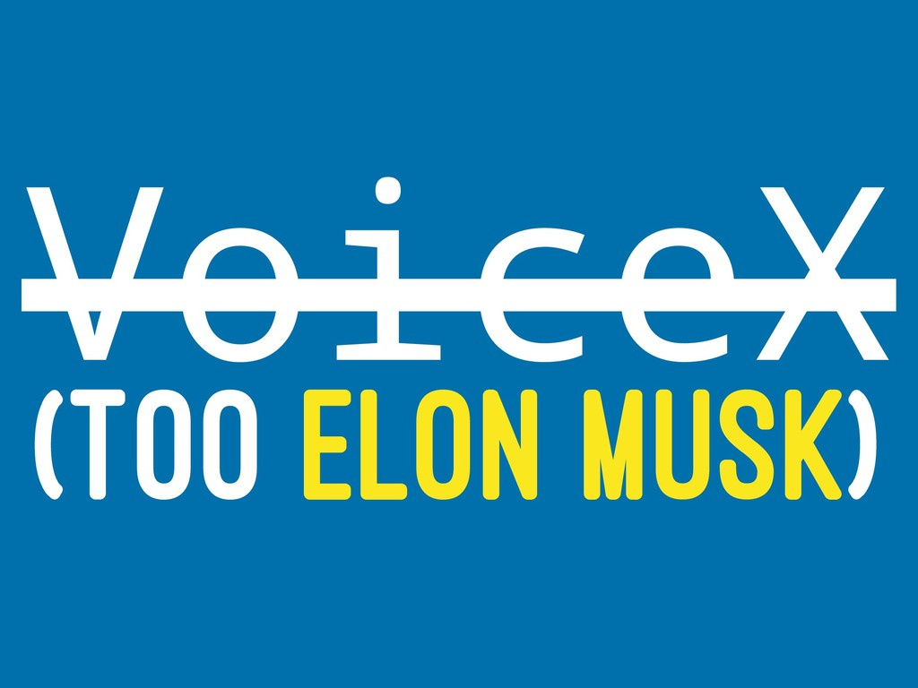 VoiceX (TOO ELON MUSK)