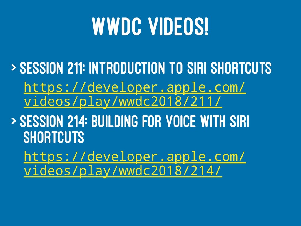 WWDC VIDEOS! > Session 211: Introduction to Sir...