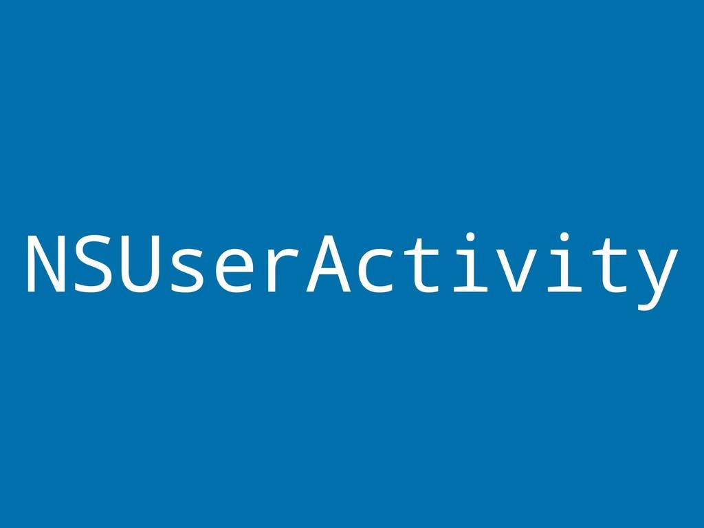 NSUserActivity