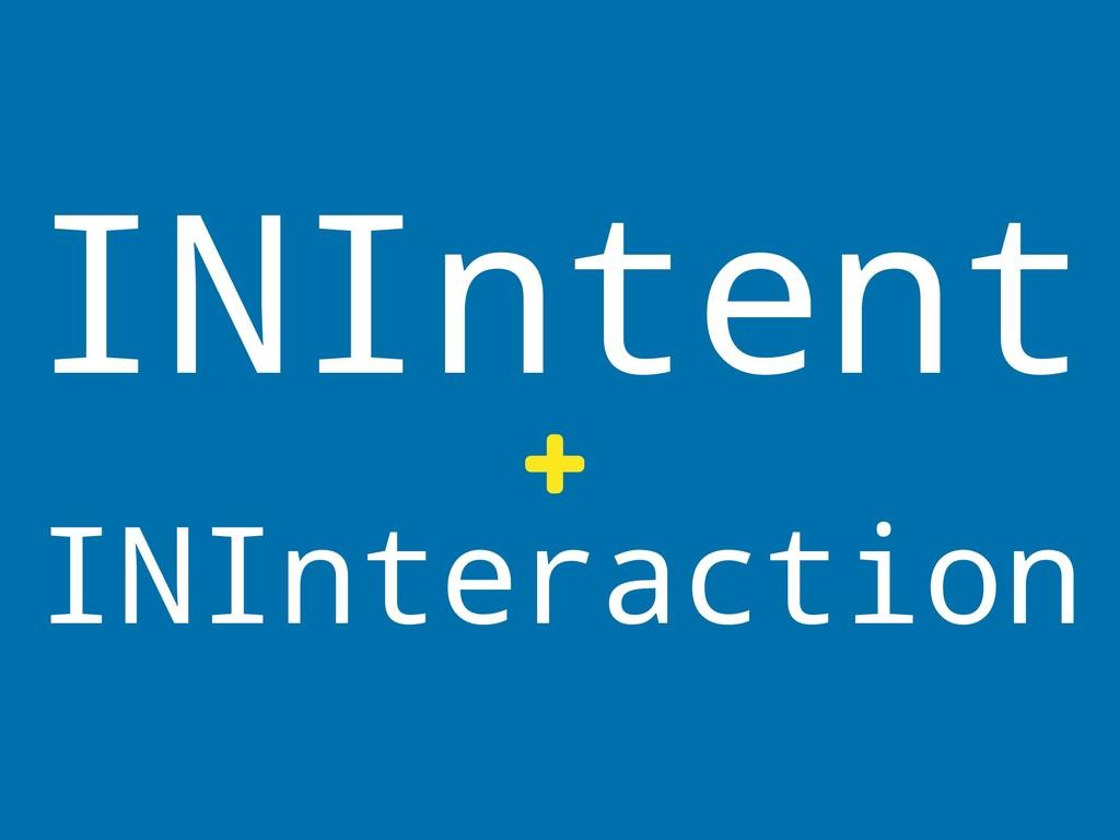 INIntent + INInteraction
