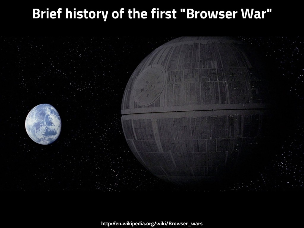 "Brief history of the first ""Browser War"" http:/..."