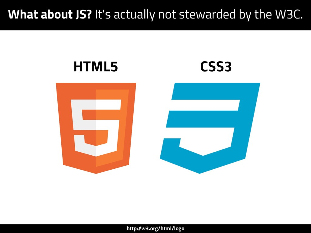 HTML5 CSS3 http:/ /w3.org/html/logo What about ...