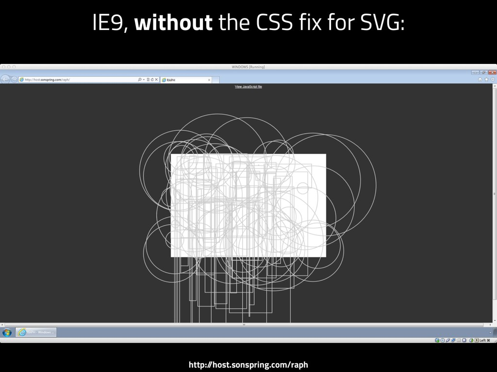 IE9, without the CSS fix for SVG: http:/ /host....
