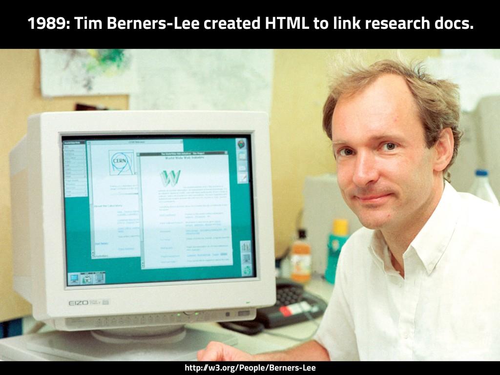 http:/ /w3.org/People/Berners-Lee 1989: Tim Ber...