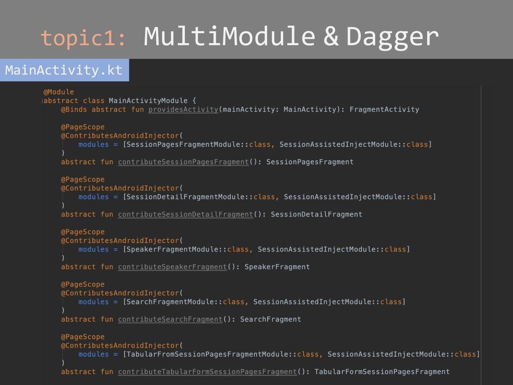 topic1: MultiModule & Dagger MainActivity.kt