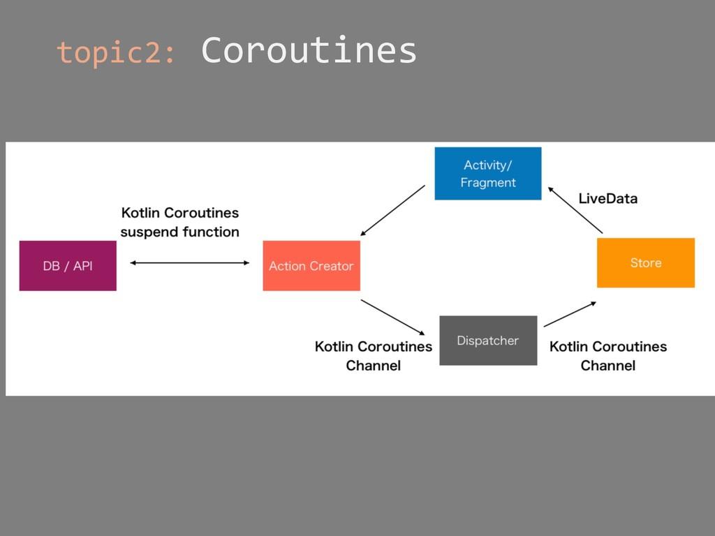 topic2: Coroutines