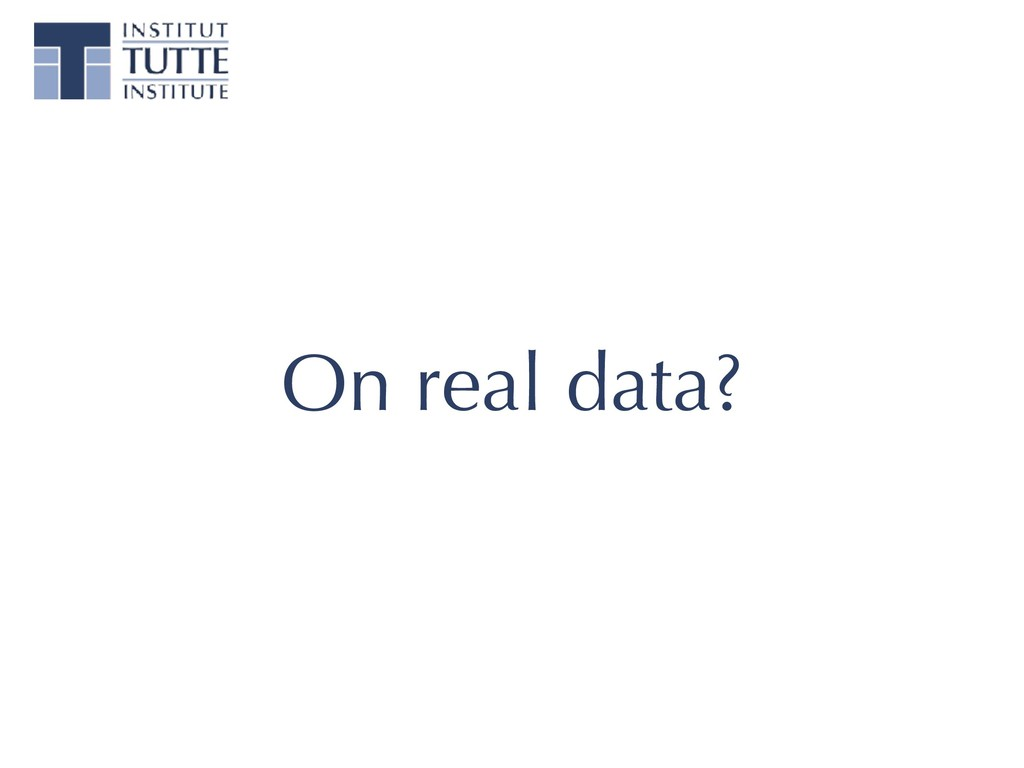 On real data?