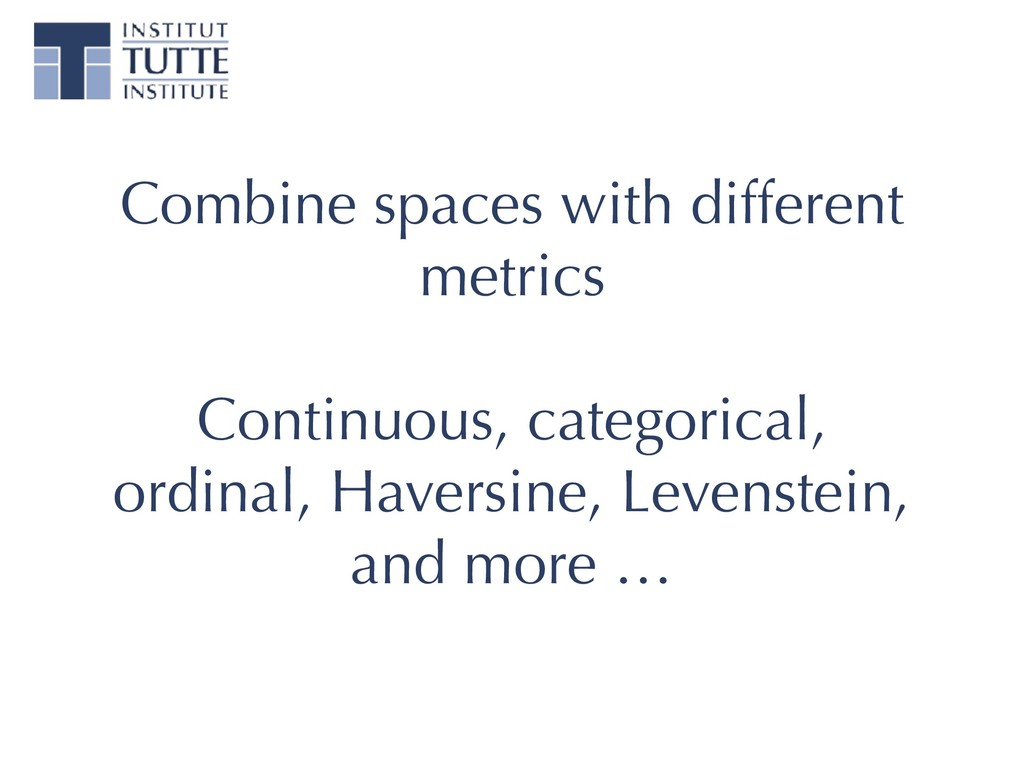 Combine spaces with different metrics Continuou...