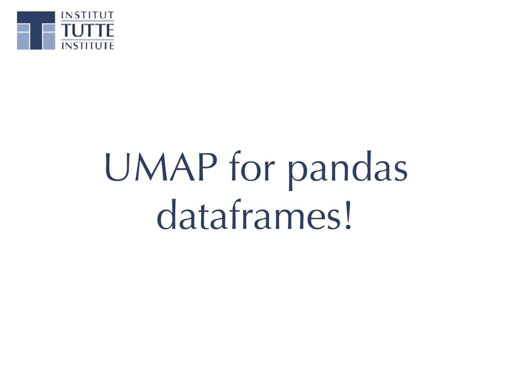 UMAP for pandas dataframes!