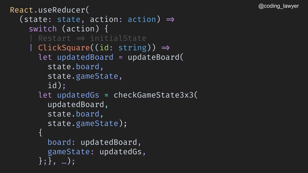 @coding_lawyer React.useReducer( (state: state,...
