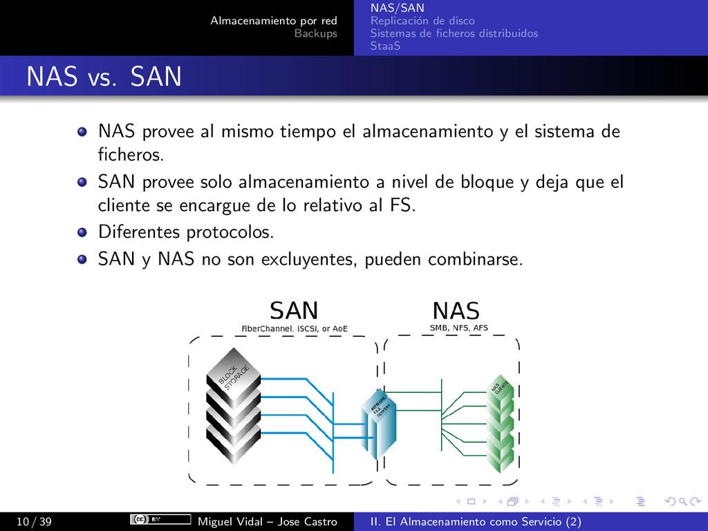 Almacenamiento por red Backups NAS/SAN Replicac...