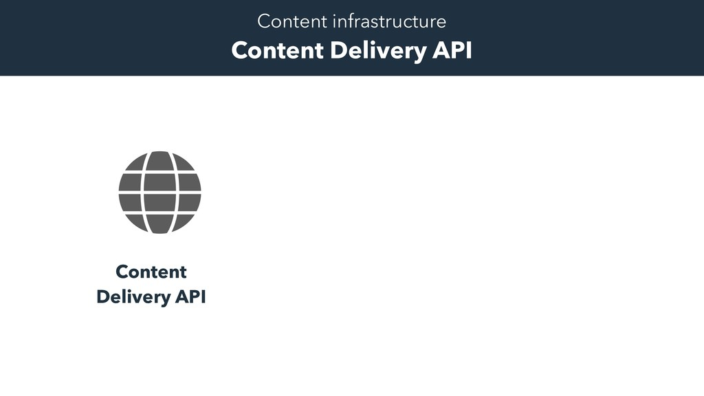 Content Delivery API Content infrastructure Con...